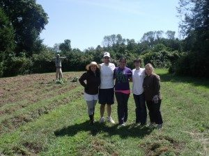 Volunteers from Regeneron Pharmaceuticals show their support for our efforts at Sugar Hill Farm